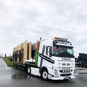 depart camion livraison façades